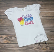 Daddy's Other Chick Shirt | Custom Easter Shirt | Happy Easter Shirt for Girl | Easter | Personalized Easter Shirt - Mickie and Mum Personalized Baby Outfits