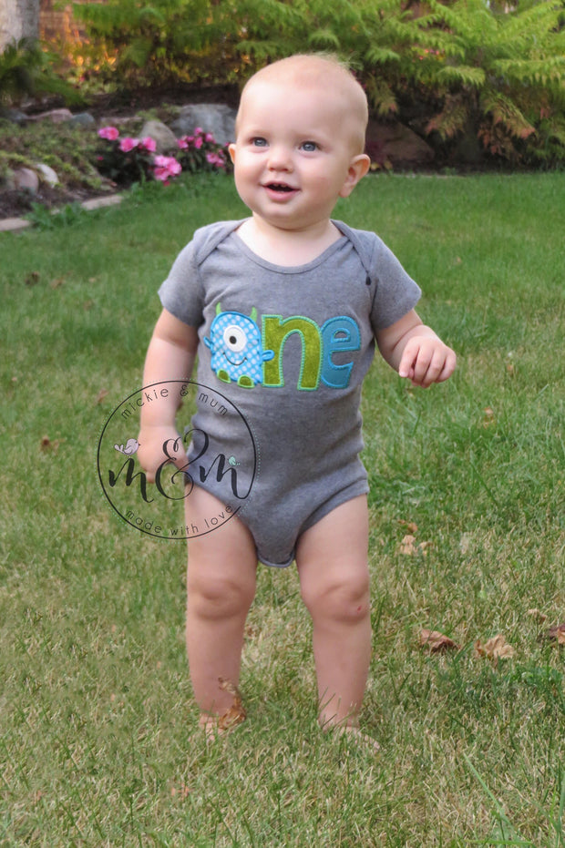 Monster Birthday Shirt | Custom Birthday Shirt | First Birthday Shirt | First Birthday Outfit Boy | Created a Monster | First Birthday Boy | - Mickie and Mum Personalized Baby Outfits