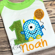 Monster Birthday Shirt - Birthday Boy Shirt - Mickie and Mum Personalized Baby Outfits