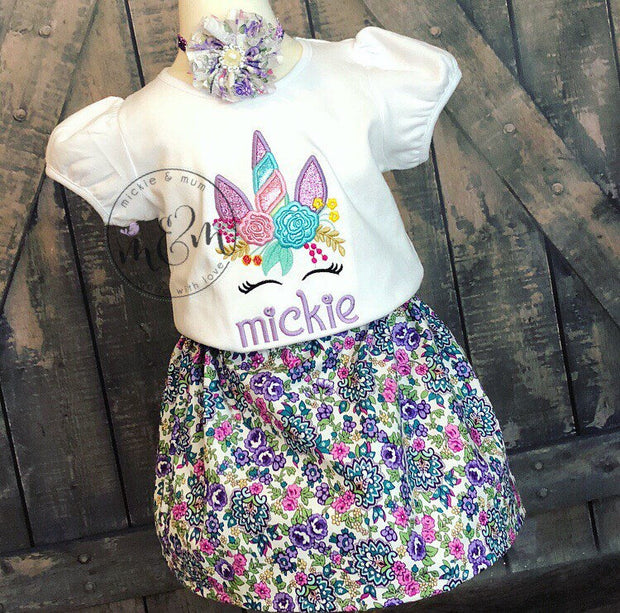 Unicorn Birthday | Unicorn Birthday Shirt  | Birthday Outfit | Unicorn Birthday | Birthday Outfit Girl | Unicorn outfit for Girl - Mickie and Mum Personalized Baby Outfits