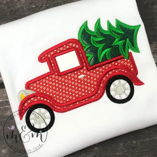Christmas Shirt | Christmas Shirts | Antique Truck Shirt | Vintage Shirt | Reindeer | Christmas Truck Shirt | Red Truck Shirt | Antique - Mickie and Mum Personalized Baby Outfits