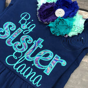 Big Sister and Little Sister Shirt Set - Newborn Girl Coming Home Outfit - Mickie and Mum Personalized Baby Outfits