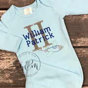 Little Brother Shirt | Welcome Home Outfit for Newborn Boy | Baby Boy Hospital Outfit | Newborn Boy Shirt | Infant Boy Shirt | Baby Brother - Mickie and Mum Personalized Baby Outfits