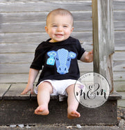 Moo Moo and TuTus Outfit | Cow Birthday Shirt | Two Year Old Birthday Shirt | Second Birthday Shirt | Farm Birthday Outfit Boy | Farm | Cow - Mickie and Mum Personalized Baby Outfits