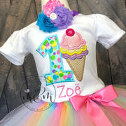 Ice Cream Party Birthday Shirt | Sweet One Birthday | First Birthday Shirt | Birthday Girl Birthday Shirt | Birthday Girl | - Mickie and Mum Personalized Baby Outfits