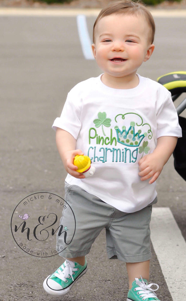 St. Patrick's Day Shirt - Pinch Charming Shirt - Mickie and Mum Personalized Baby Outfits