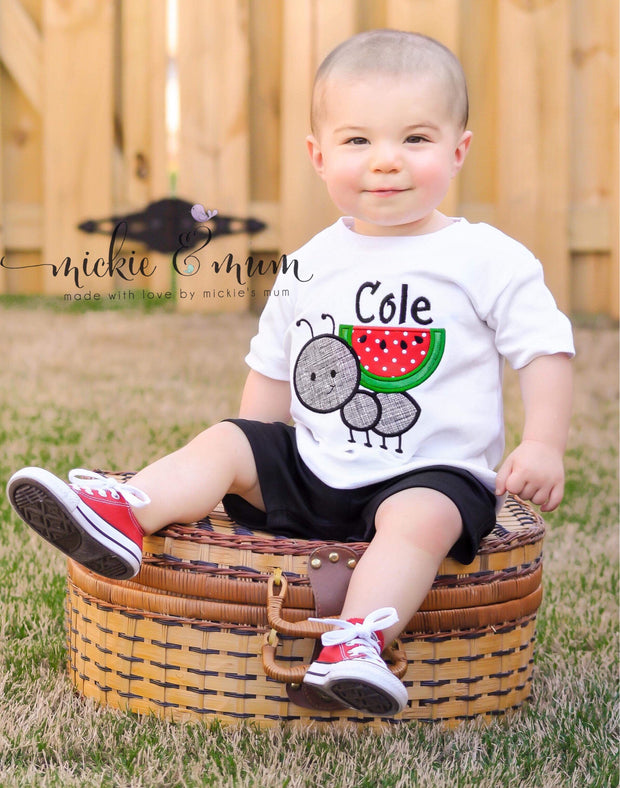 Summer Shirt | Ant Shirt | Vacation Shirt for Boy | Sun | Sunny Days | Ants go marching | Picnic Shirt | Family Picnic - Mickie and Mum Personalized Baby Outfits