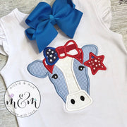 Summer Shirt | Moo Moo and TuTus Outfit | Cow Birthday Shirt | 4th of July Shirt | Fourth of July Shirt | Made in the USA - Mickie and Mum Personalized Baby Outfits
