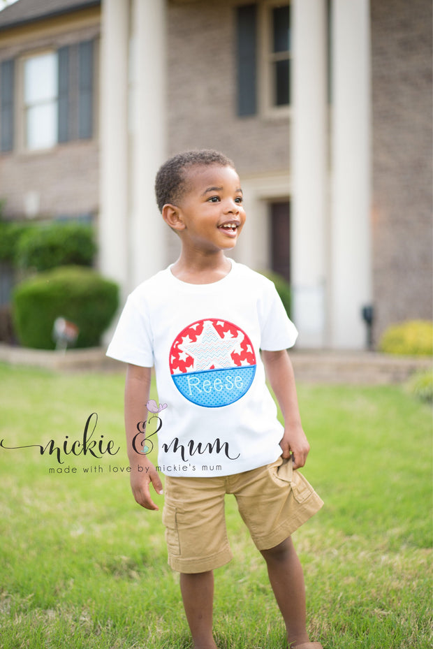 Summer Shirt | 4th of July Shirt |  Made in the USA | Patriotic Shirt | Gator Shirt | Go Gators | Made in the USA | Fourth ofJuly Shirt | - Mickie and Mum Personalized Baby Outfits