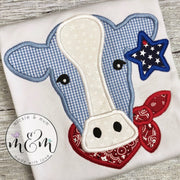 Summer Shirt | Cow Outfit | Cow Birthday Shirt | 4th of July Shirt | Fourth of July Shirt | Farm Outfit | Made in the USA - Mickie and Mum Personalized Baby Outfits
