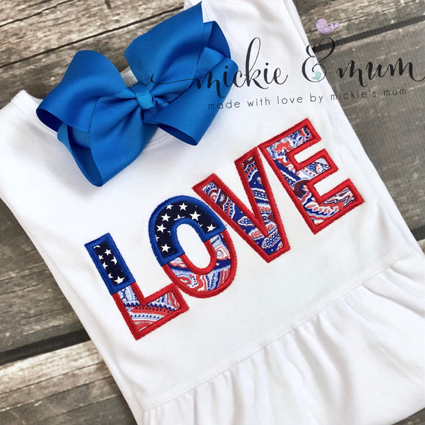 Summer Dress | 4th of July Dress | Lake Shirt | 4th of July Outfit | Lake House | Patriotic Dress | Pageant Shirt | Crown | Made in the USA - Mickie and Mum Personalized Baby Outfits