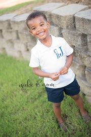 Back to School Shirt - Monogrammed Shirt for Boys - Mickie and Mum Personalized Baby Outfits