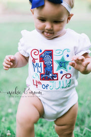 First Fourth of July | First 4th of July | 4th of July Outfit | Baby's First 4th | My First Fourth of July| Fourth of July Shirf - Mickie and Mum Personalized Baby Outfits