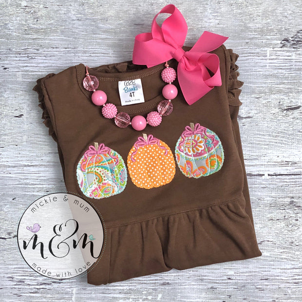 Little Miss Gobble Gobble | Thanksgiving Shirt | Turkey Day | Give Thanks | Thanksgiving Outfit | Holiday Outfit | Fall Shirt - Mickie and Mum Personalized Baby Outfits