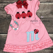 Love | Love Bug | Lady Bug | Summer Dress | Birthday Dress | Valentine's Day Shirt | Valentine's Day  Dress | Holiday Dress | Valentine - Mickie and Mum Personalized Baby Outfits
