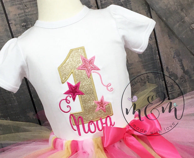 Twinkle Twinkle Little Star Birthday - First Birthday Shirt - Mickie and Mum Personalized Baby Outfits