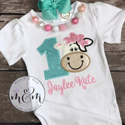 Moo Moo and TuTus Outfit | Cow Birthday Shirt | Two Year Old Birthday Shirt | Second Birthday Shirt | Farm Birthday Outfit Girl - Mickie and Mum Personalized Baby Outfits