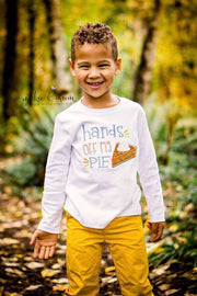 Pumpkin Pie Shirt | Pie Shirt | Pumpkin Patch Shirt | Pumpkin Patch | Fall Shirt | Pumpkin Shirt | Thanksgiving Shirt | Hands off my pie - Mickie and Mum Personalized Baby Outfits