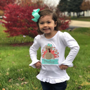Little Miss Gobble Gobble | Thanksgiving Shirt | Turkey Shirt Girl | Give Thanks | Thanksgiving Outfit | Holiday Outfit | Fall Shirt - Mickie and Mum Personalized Baby Outfits