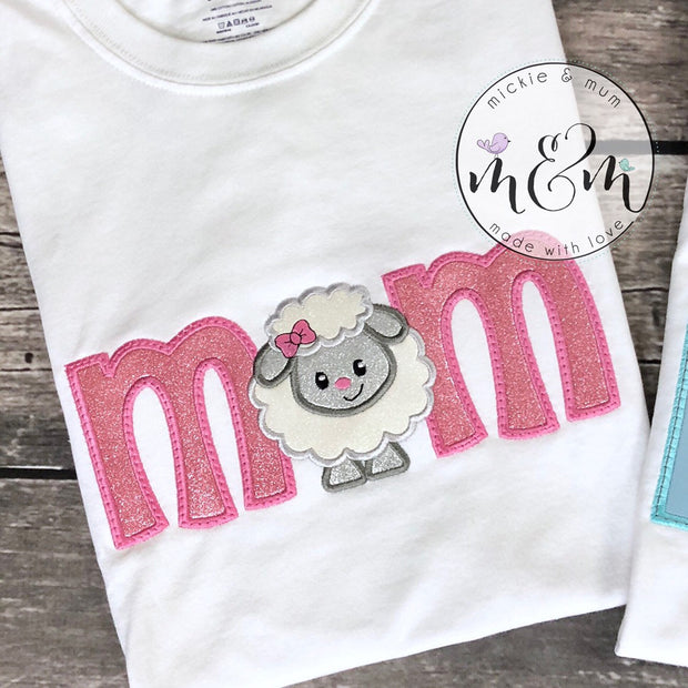 Matching Mom Shirt | Mom Shirt | Coordinating Birthday Shirts | Matching Dad Shirt | Mom of Birthday of Girl | Dad of Birthday Girl | Farm - Mickie and Mum Personalized Baby Outfits