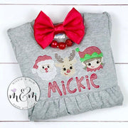 Christmas Shirt | Reindeer Shirt | Holiday Shirt | Christmas Outfit | Santa Shirt | Santa Outfit | Elf Shirt | Elf Outfit - Mickie and Mum Personalized Baby Outfits