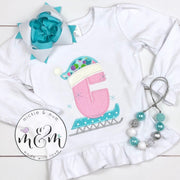 Christmas Shirt | Sledding Christmas Shirt | Winter Christmas Shirt | Monogrammed Christmas Shirt | Christmas Outfit | Reindeer Shirt - Mickie and Mum Personalized Baby Outfits