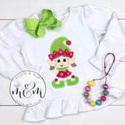 Christmas Shirt | Christmas Elf Shirt | Winter Christmas Shirt | Monogrammed Christmas Shirt | Christmas Outfit | Elf Shirt - Mickie and Mum Personalized Baby Outfits