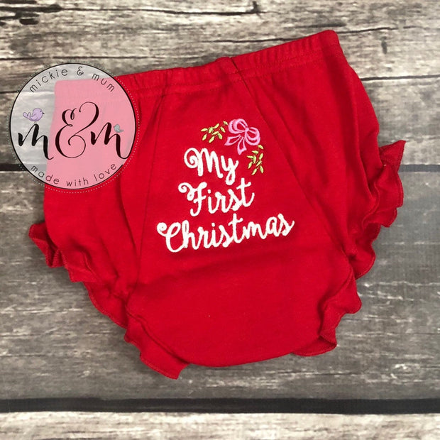First Christmas | My First Christmas | Baby's First Christmas | Newborn Christmas |  Christmas Shirts | Sibling Christmas Shirts | - Mickie and Mum Personalized Baby Outfits