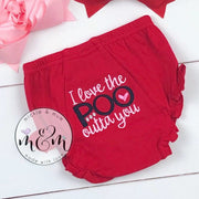 Newborn Bloomer | Newborn Diaper Cover | Baby Bloomer | Newborn Coming Home Outfit | Bloomer | Valentine Bloomers - Mickie and Mum Personalized Baby Outfits