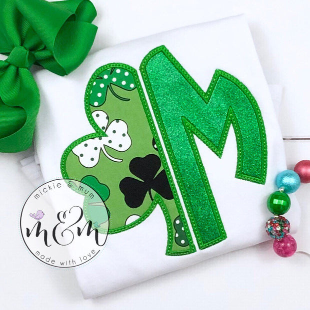 Custom St. Patrick's Day Shirt | St. Patrick's Day Shirt for Girl | Shamrock  Shamrock Shirt | Llama Shirt | Lucky Shirt | Lucky Llama Shirt - Mickie and Mum Personalized Baby Outfits