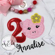 Pig Birthday Shirt - Birthday Girl Shirt - Mickie and Mum Personalized Baby Outfits