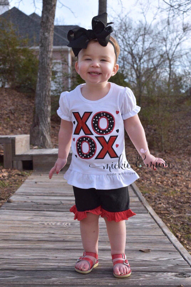 Love is Love | Valentine's Outfit | Red and Pink Birthday | My First Valentine's Day | Girl Valentine's Day Shirt | Valentine's Day Outfit - Mickie and Mum Personalized Baby Outfits
