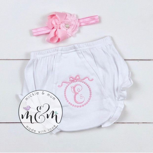 Newborn Bloomer | Newborn Diaper Cover | Baby Bloomer | Newborn Coming Home Outfit | Bloomer | Bloomers - Mickie and Mum Personalized Baby Outfits