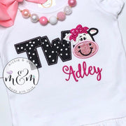 Moo Moo and TuTus Shirt - Second birthday shirt - Mickie and Mum Personalized Baby Outfits
