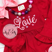 Unicorn Valentine's Day Dress - Unicorn Dress - Mickie and Mum Personalized Baby Outfits