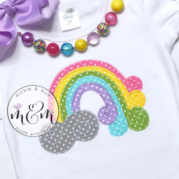 Rainbow Birthday | Birthday Outfit | First Birthday Shirt | First Birthday Outfit | Rainbow Baby | Rainbow Birthday Shirt - Mickie and Mum Personalized Baby Outfits