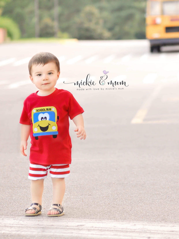 Back to School Shirt | Return to School | Welcome Back | First Day of School | Custom Back to School | Boy Back to School | School Bus Shirt - Mickie and Mum Personalized Baby Outfits