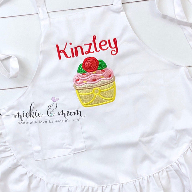 Kitchen Apron - Children's Apron - Kid's Apron| Custom Apron | Teacher Apron | Womens Apron | Mens Apron | Chef Apron - Mickie and Mum Personalized Baby Outfits