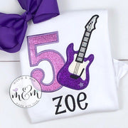 Rock Star Birthday Shirt - Birthday Girl Shirt - Mickie and Mum Personalized Baby Outfits