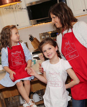 Matching Aprons | Apron for Mom and Child | Matching Kitchen Aprons | Father's Day GIft | Gifts for Dad | Gifts for Her | Gifts for Him - Mickie and Mum Personalized Baby Outfits