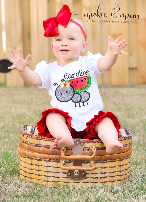 Summer Shirt | Sunshine Shirt | Summer shirt for Girl | Vacation Shirt | Personalized Summer Shirt | Watermelon Shirt | Ant - Mickie and Mum Personalized Baby Outfits