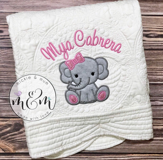 Baby Blanket | Birth Announcement | Coming Home Blanket | Hospital Blanket | Quilted Baby Blanket | Baby Shower Gift | - Mickie and Mum Personalized Baby Outfits