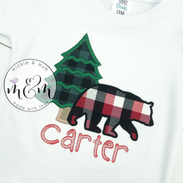 First Birthday Shirt | Birthday Shirt | Boy Birthday | Lumberjack Birthday Shirt | Camp Birthday | Woods Birthday | Buffalo Plaid Birthday - Mickie and Mum Personalized Baby Outfits