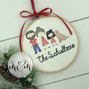 Family Ornament - Christmas Tree Ornament - Personalized Christmas Ornament - Mickie and Mum Personalized Baby Outfits