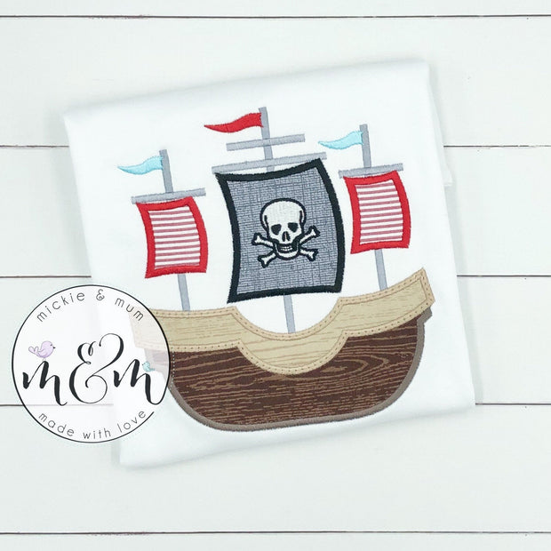 Pirate Birthday Shirt - Birthday Boy Shirt - Mickie and Mum Personalized Baby Outfits