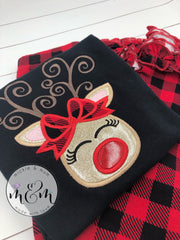 Christmas Shirt, Christmas Deer Shirt, Christmas Shirt For Girls, Christmas Reindeer Shirt - Mickie and Mum Personalized Baby Outfits