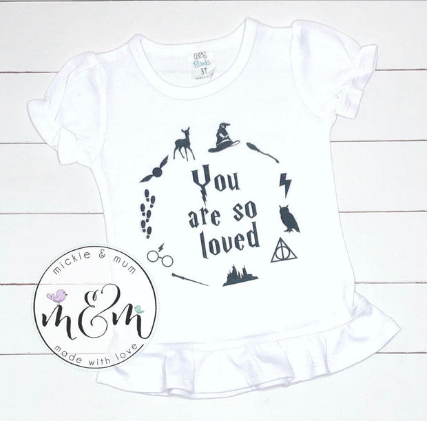 You Are So Loved Shirt - Mickie and Mum Personalized Baby Outfits