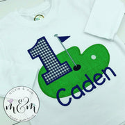 Birthday Boy Shirt - Golf Birthday Shirt - Mickie and Mum Personalized Baby Outfits