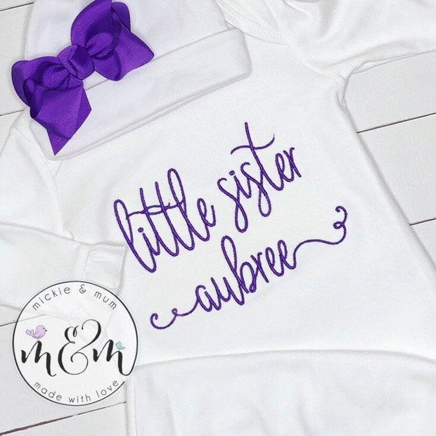 Baby Girl Outfit - Newborn Girl Outfit - Baby Girl Coming Home Outfit - Newborn Girl Coming Home Outfit - Baby Girl Layette - Mickie and Mum Personalized Baby Outfits