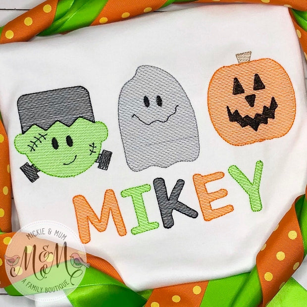 Halloween Shirt - Frankenstein Ghost Pumpkin Shirt